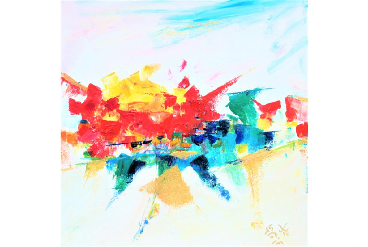 Dankbarkeit, Acryl auf Leinwand, 40 x 40 cm, Juli 2011 - Albrecht K. Scherer