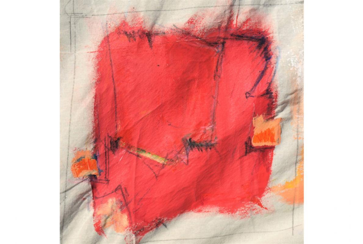 Rothautgesicht, Acryl auf Leinwand, 30 x 30 cm, August 2009, Privatbesitz, Albrecht K. Scherer