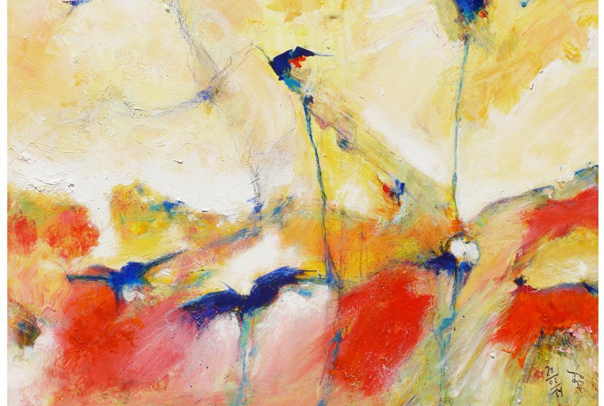 Von neuer Freiheit, Acryl auf Leinwand, 65x 90 cm, Februar 2014, Privatbesitz, Albrecht K. Scherer