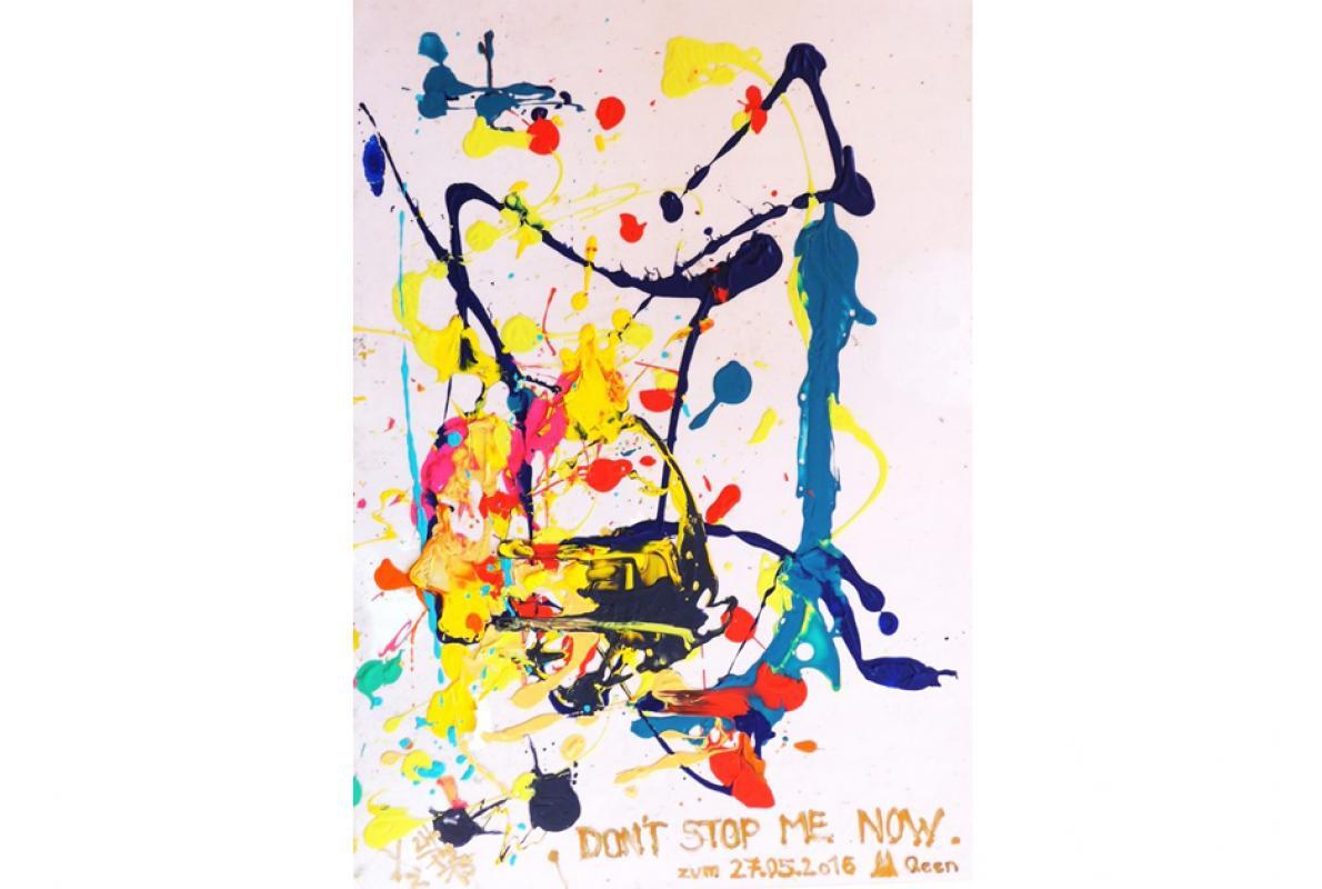 Queen's, D'not stop me, Acryl auf Folie, 60 x 60 cm, Dezember 2015, Privatbesitz, Albrecht K. Scherer