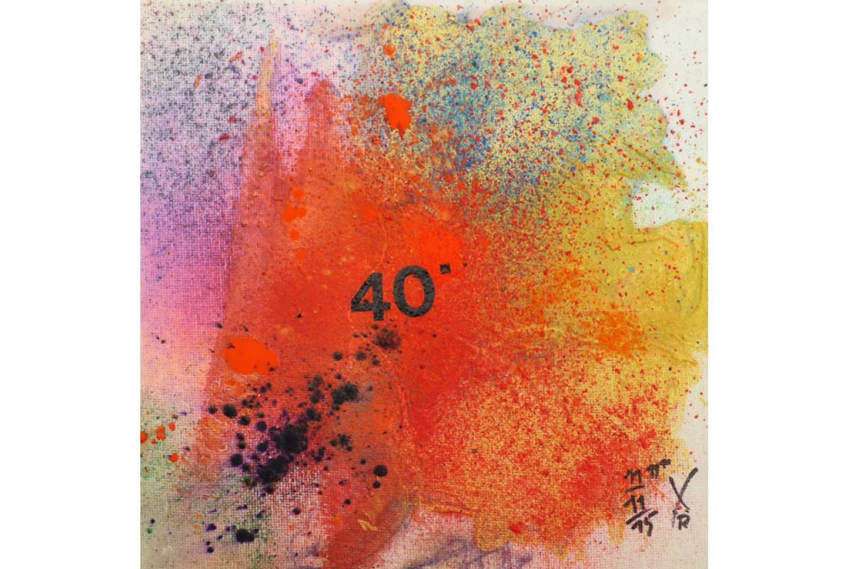 Kölle W 40, Acryl auf Leinwand,  20 x 20 cm, November 2015, Privatbesitz, Albrecht K. Scherer