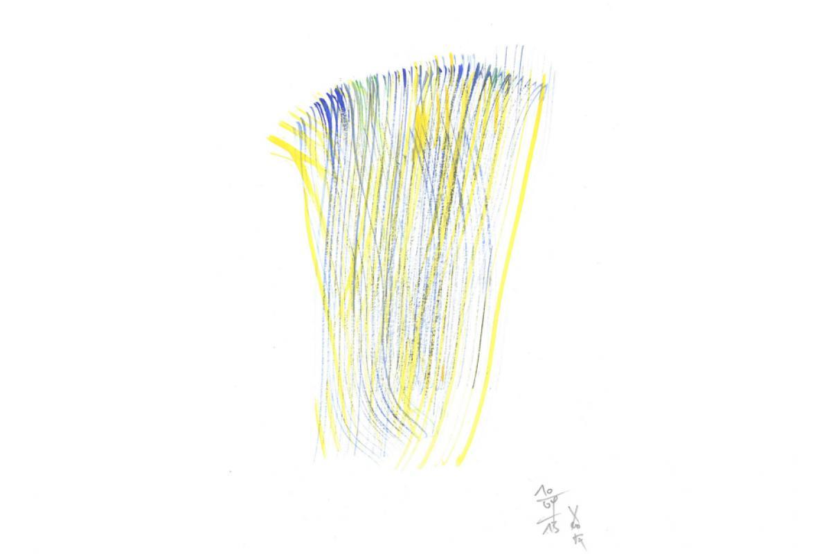 Faser Schicht 1,  Aquarell auf Papier, 17 x 24 cm, August 2013, Albrecht K. Scherer
