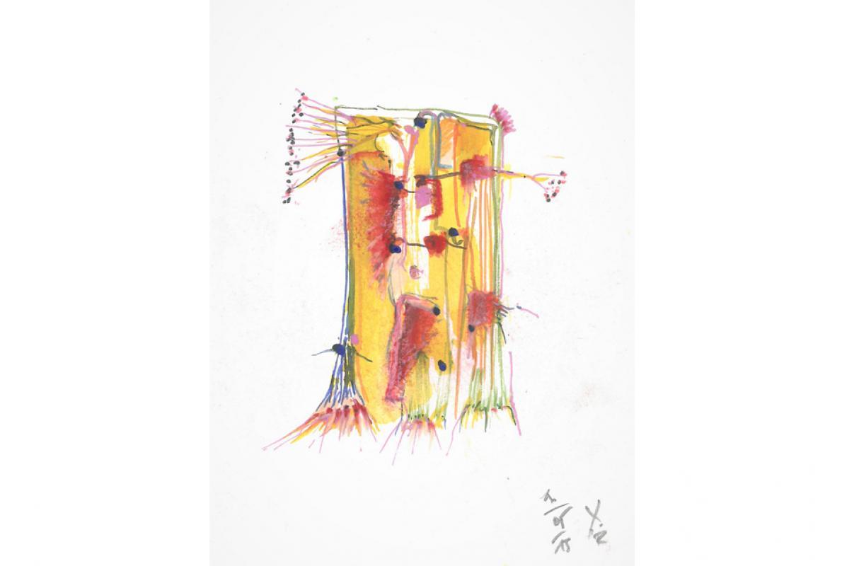 Visage 10, Aquarell auf Papier, 17 x 24 cm, Mai 2013, Albrecht K. Scherer