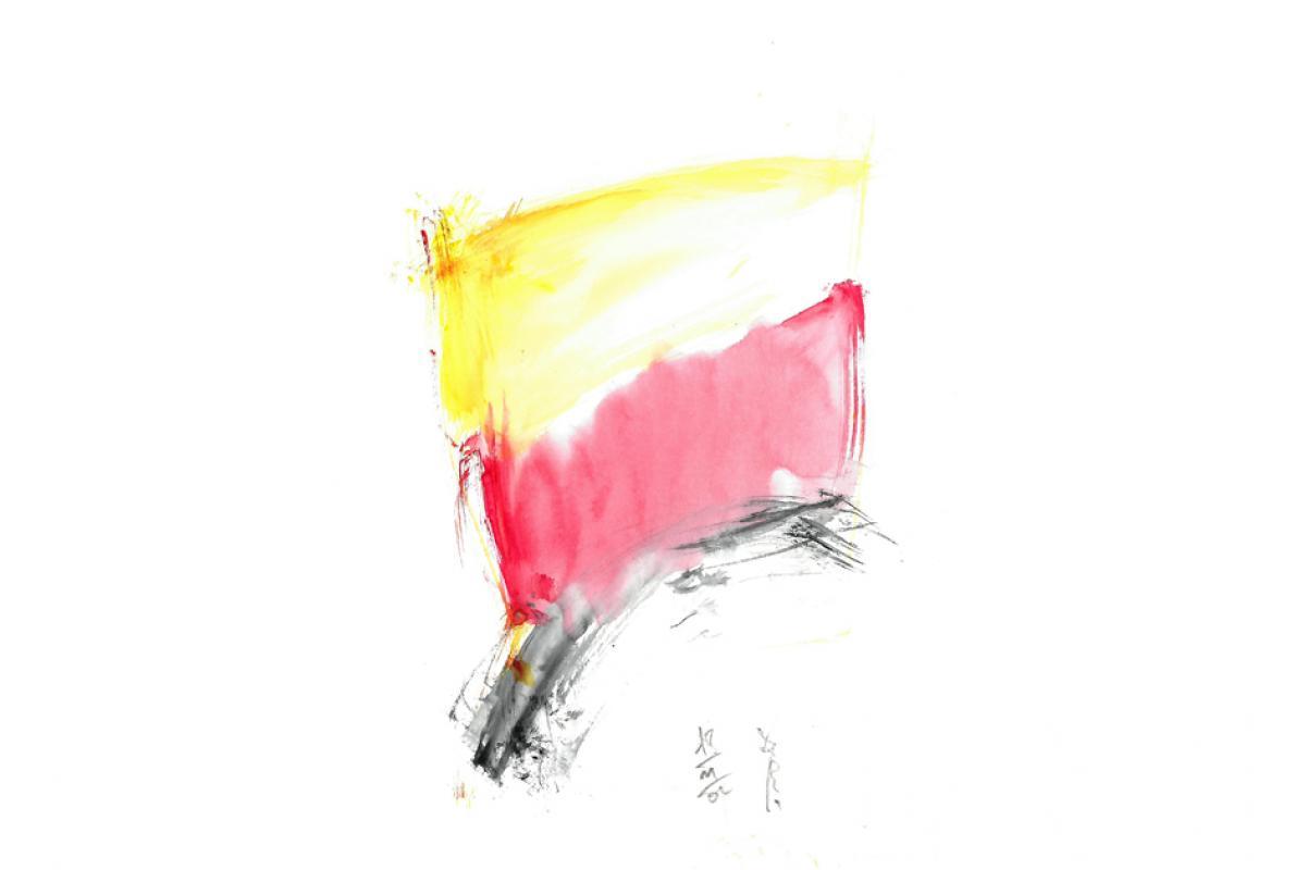 Etwas Deutsch, Aquarell auf Papier, 21 x 29 cm, März 2006 - Albrecht K. Scherer