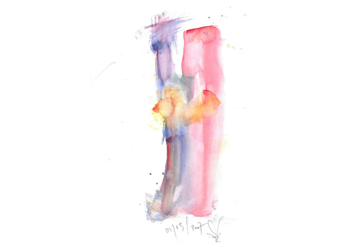 Sehr anzüglichst, Aquarell auf Papier, 21 x 29 cm, April 2003, Albrecht K. Scherer