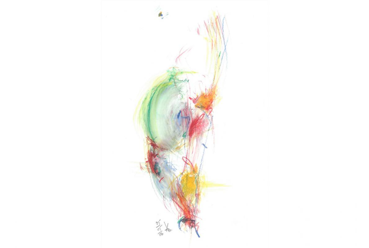 Wegeswill, Aquarell auf Papier, 21 x 29 cm, Mai 2005 - Albrecht K. Scherer