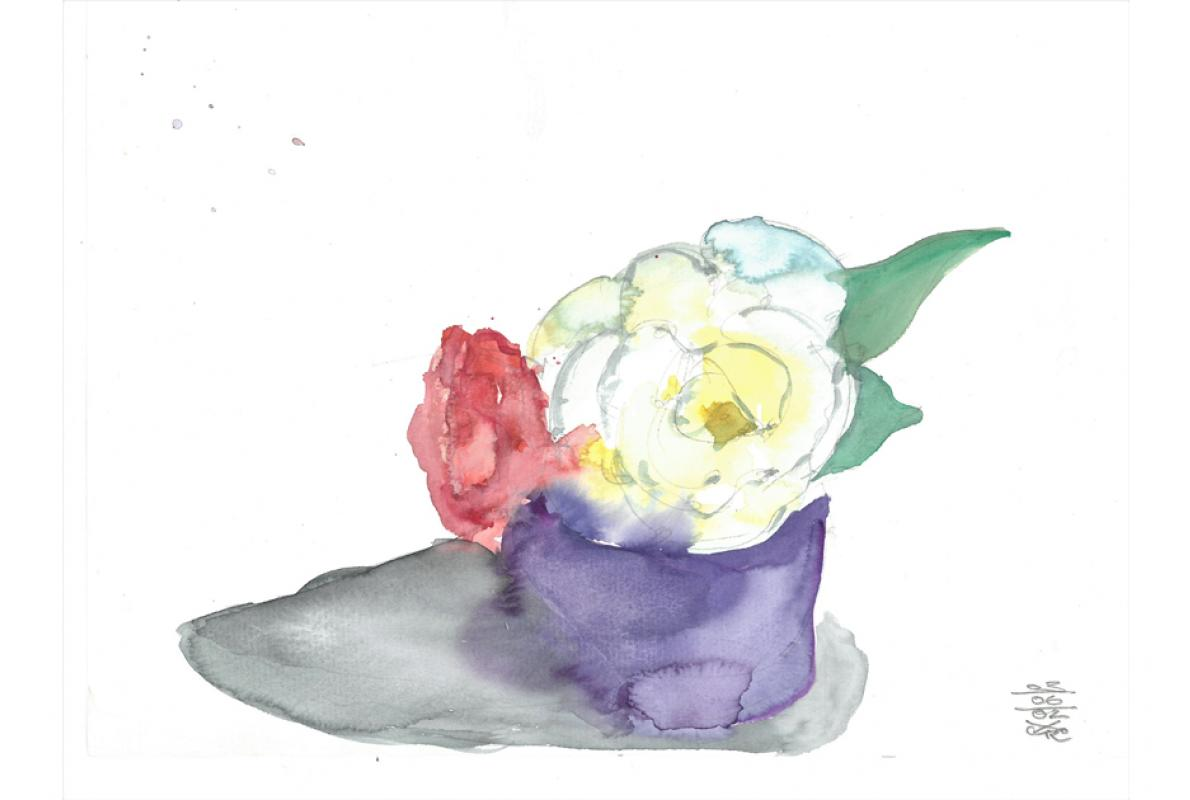 Rosen 2, Aquarell auf Papier, 23 x 29 cm, Mai 2002 - Albrecht K. Scherer