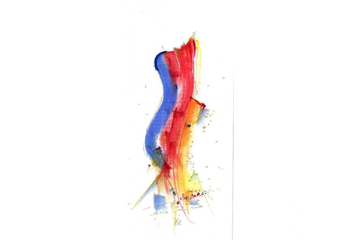 Mehr denn je, Pastell auf Papier, 15 x 29 cm, Dezember 2008, Albrecht K. Scherer