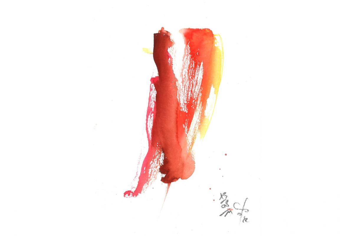 Tango, Aquarell auf Papier, 14 x 21 cm, August 2011, Albrecht K. Scherer