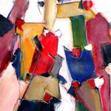 Früh noch das Jahr, Acryl auf Leinwand, 60 x 80 cm, Januar 2006, Privatbesitz, Albrecht K. Scherer