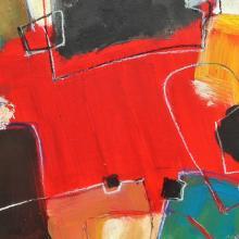 Oase, Acryl auf Leinwand, 38 x 48 cm, Januar 2004, Albrecht K. Scherer