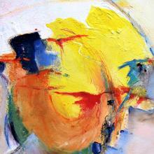 Ausbruch, Acryl auf Leinwand, 50 x 50 cm, Mai 2010, Albrecht K. Scherer