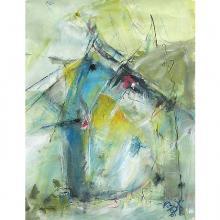 Noch nicht im Vorschein, Acryl auf Papier, 50 x 70 cm, Mai 2005, Albrecht K. Scherer