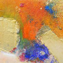 Erdschichtig,  Acryl auf Leinwand, 30 x 30 cm, September 2015, Privatbesitz, Albrecht K. Scherer
