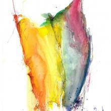 Leibliches, Aquarell auf Papier, 16 x 23 cm, März 2012, Albrecht K. Scherer